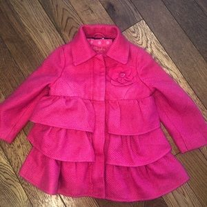Girls 3T tiered dress coat